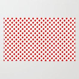 Red Apple Fruit Food Pattern Rug