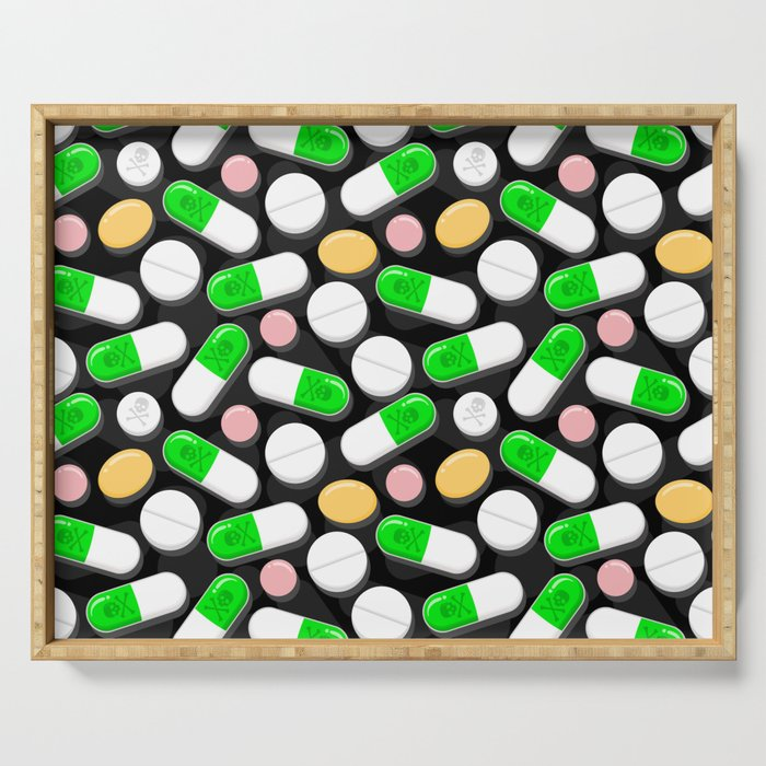Deadly Pills Pattern Serving Tray
