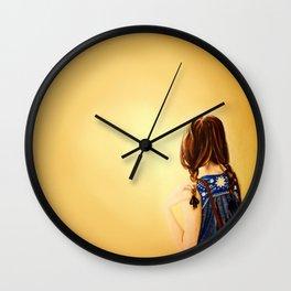 Sunny Braids. Wall Clock