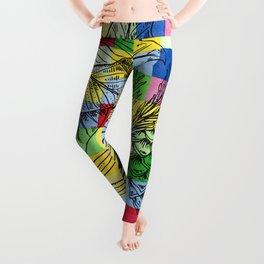 Christmas Pattern Colorful Geometric Leggings