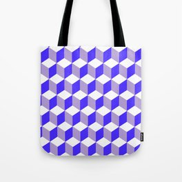 Diamond Repeating Pattern In Nebulas Blue and Grey Tote Bag
