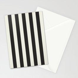 Love stripes (black & cream) Stationery Cards