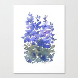 Beautiful Blue Delphiniums Canvas Print