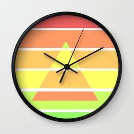 Rainbow Gradient Triangle Wall Clock