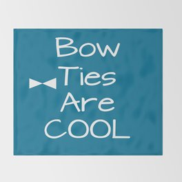 DOCTOR WHO Bow Ties Are Cool Teal Throw Blanket