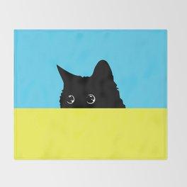 Kitty 2 Throw Blanket