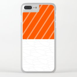 Simple Salmon Sushi Clear iPhone Case