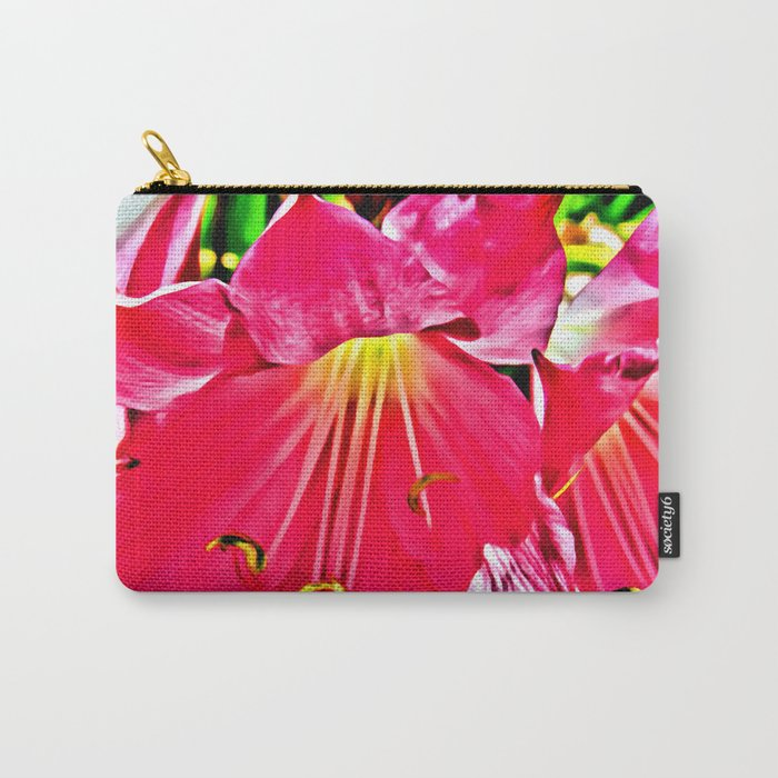 RED HIBISCUS FLOWER MACRO Carry-All Pouch