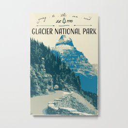 Glacier National Park - Going to the Sun Road Metal Print