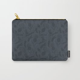 Charcoal Grey Scottish Thistles Pattern Carry-All Pouch