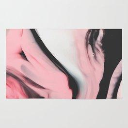 Modern pink marble and black Rug
