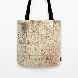 Vintage Burlington Vermont Topographic Map (1904) Tote Bag