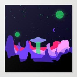 Hello ufo Canvas Print