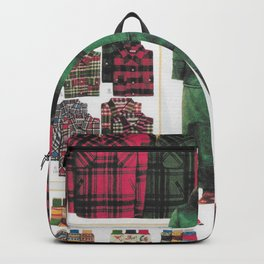 """""""dress your family in plaid"""" Christmas nostalgic classic catalog Backpack"""