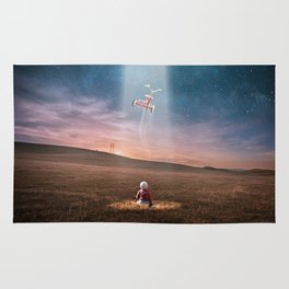 Child and UFO Rug