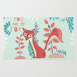 You are my Fox Rug