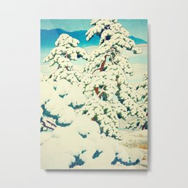A Morning in the Snow Metal Print