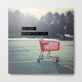 Grocery Cart Rage  Metal Print