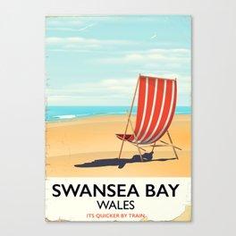 Swansea Bay Wales Seaside poster Canvas Print