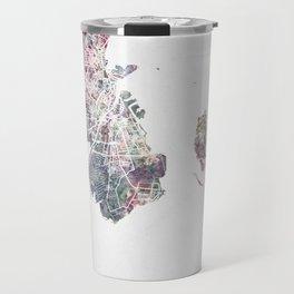 Copenhagen map Travel Mug