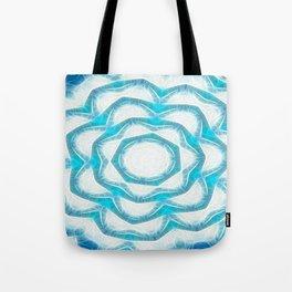 Cyan Glow Kaleidoscope 18 Tote Bag