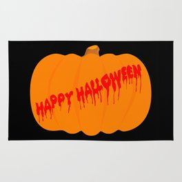 Totaly Evil Halloween Pumpkin Rug