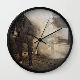 Hot Shoeing Wall Clock
