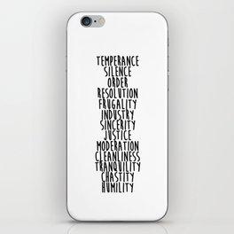 13 Virtues iPhone Skin