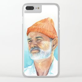Steve Zissou Art Life Aquatic Clear iPhone Case