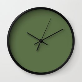 Crocodile Green - Solid Color Collection Wall Clock