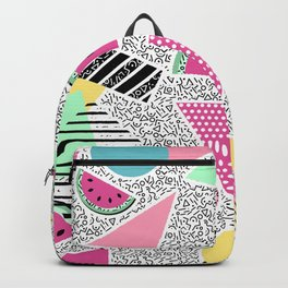 Modern geometric pattern Memphis patterns inspired Backpack