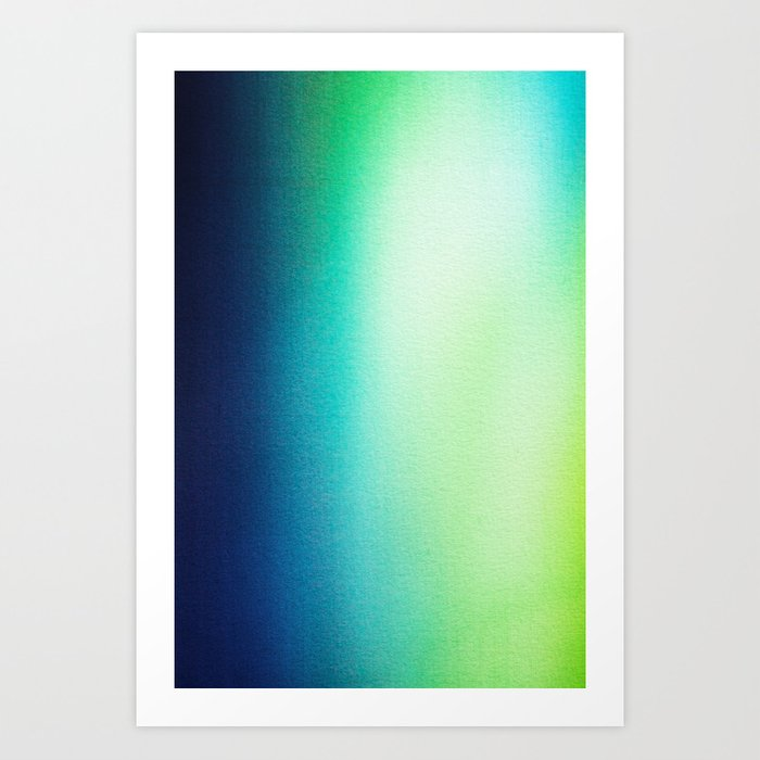 BLUR / tropical Art Print