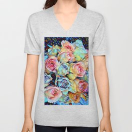 For Love of Roses Unisex V-Neck