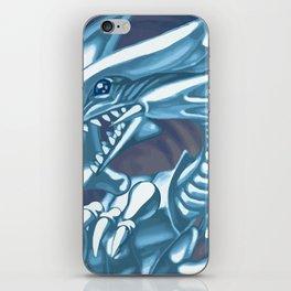 Blue eyes white dragon iPhone Skin