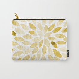Watercolor brush strokes - yellow Carry-All Pouch