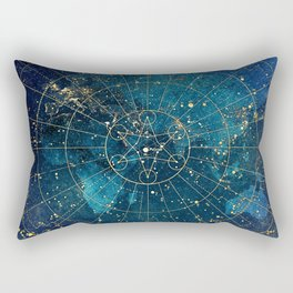 Star Map :: City Lights Rectangular Pillow