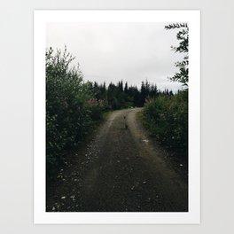 Alaskan farm Art Print