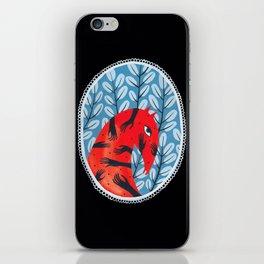 Smug red horse 2. iPhone Skin