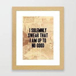 I Solemnly Swear Framed Art Print