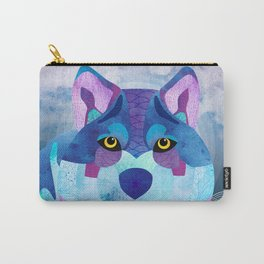 SHANTI SPARROW: Shadow the Wolf Carry-All Pouch