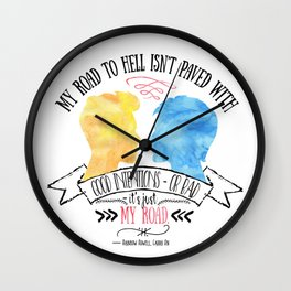 Carry On - Road To Hell Wall Clock