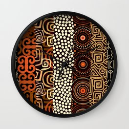 Geometric African Pattern Wall Clock