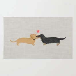 Dachshunds Love Rug