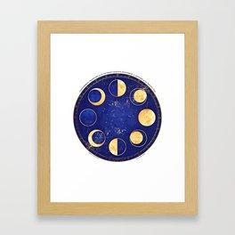 Celestial Atlas :: Lunar Phases Framed Art Print