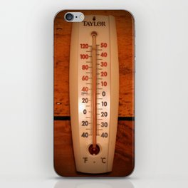 Wall Thermometer iPhone Skin
