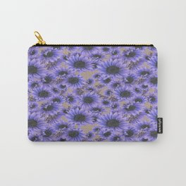 Purple Sunflowers Carry-All Pouch