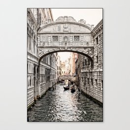 Bridge of Sighs, Venice, Italy (Lighter Version) Canvas Print