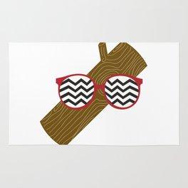Twin Peaks Log Rug