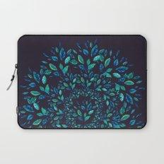 Blue Leaves Mandala Laptop Sleeve