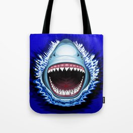 Shark Jaws Attack Tote Bag